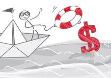 Rescue money Royalty Free Stock Photos