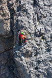 Rescue in the mountain of Dolomites Royalty Free Stock Photography