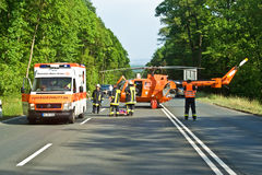 Rescue Operation on a street Stock Images