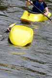Rescue a overturned kayak Royalty Free Stock Photo