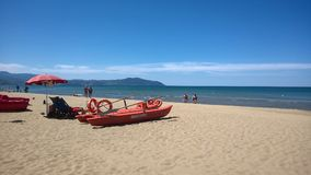 Paestum sand beach Stock Images