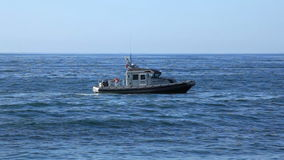 Rescue patrol on the ocean. In Vina del Mar, Chile stock video footage