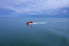The rescue powerboat royalty free stock images