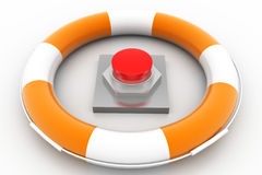 Rescue Red Button Stock Photography