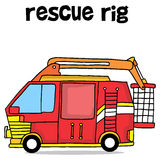 Rescue rig of transportation collection Royalty Free Stock Photography