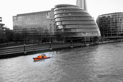 Rescue RNLI Lifeboat on Thames Stock Photography