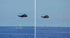 Rescue at sea Stock Photography