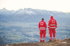 Rescue Service in the Alps Royalty Free Stock Photography