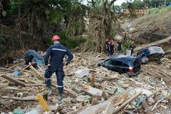 Rescue Service assorted debris Stock Photo