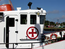 Rescue ship. Cabin. Maltan cross Stock Photography