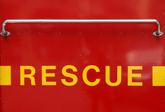 Rescue sign Stock Photography