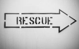 Rescue sign Stock Image