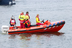 Rescue squad boat Royalty Free Stock Photography