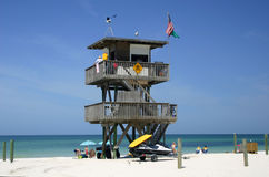 Rescue Station. In Florida along the Gulf of Mexico royalty free stock photography