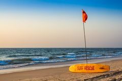 Rescue surfboard Stock Images