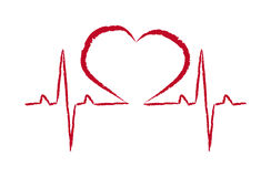 Rescue symbol heart pulse vector Stock Photos