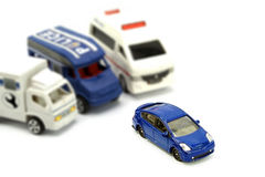 Support Team for Insurance concept. Support Team for Insurance Life and Car concept stock photo