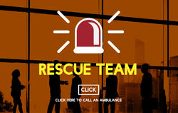 Rescue Team Paramedic Support Help Emergency Concept Royalty Free Stock Image