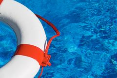 Rescue tires in the pool Stock Photography