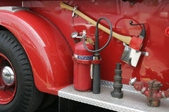 Rescue Tools. Tools on the side of a fire truck Stock Photography