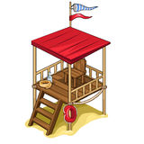 Rescue tower with all equipment. Vector isolated Stock Photo