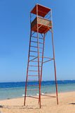 Rescue tower on the beach near the sea Stock Photography