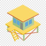 Rescue tower isometric icon Stock Photography