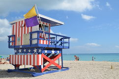 Rescue tower, miami beach Royalty Free Stock Photography