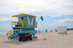 Rescue tower, miami beach Royalty Free Stock Photo