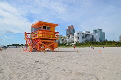 Rescue tower, miami beach Stock Photography