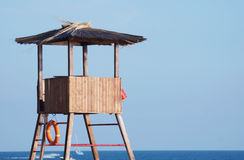 Rescue tower next to the sea Royalty Free Stock Image