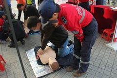 Rescue training in China,Asian Stock Photography
