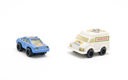 Rescue truck and car toys Stock Photos