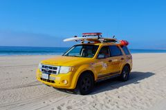 Rescue vehicle lifeguards Royalty Free Stock Photos