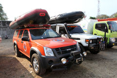 Rescue vehicles Stock Photo