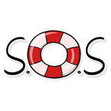 Rescue Wheel S.O.S Illustration  Royalty Free Stock Photo