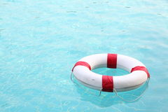 Rescue wheel on swimming pool Royalty Free Stock Photography