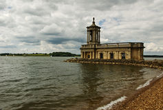 Rescued church. The preserved church at Rutland Water, Leicestershire,England. This church was saved when several villages were flooded to create this massive stock image