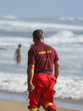 Rescuer on the beach. Royalty Free Stock Images