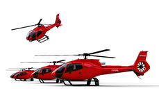 Rescuer Helicopters fleet Royalty Free Stock Images