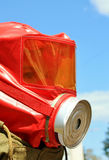 Rescuer's helmet with mask and respirator Royalty Free Stock Image
