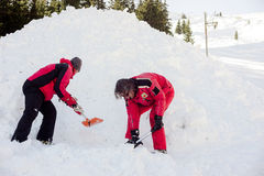 Rescuers at Mountain Rescue Service Stock Image