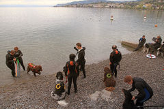Rescuers are participating in a training course Stock Images
