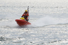 Rescuerunner waterscooter at high speed Stock Photos