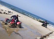 Rescuing a quad (ATV) royalty free stock photos