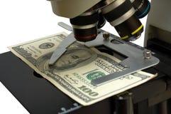 Reseach del dinero en circulación Imágenes de archivo libres de regalías