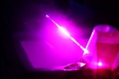 Reseach laser Arkivbild