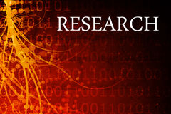 Research Abstract Stock Photo