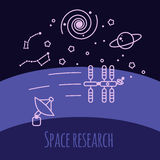 Research activity in space Royalty Free Stock Photos