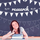 Research against student thinking in classroom Stock Photos
